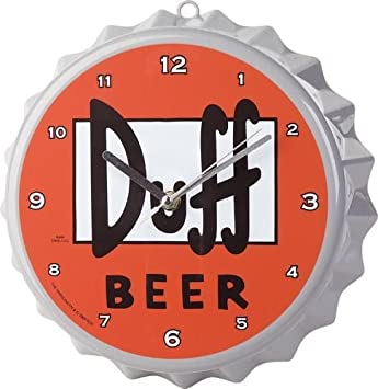 united labels los simpson reloj de pared con diseo de tapn de cerveza
