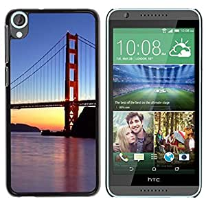 Be Good Phone Accessory // Dura Cáscara cubierta Protectora Caso Carcasa Funda de Protección para HTC Desire 820 // Francisco Golden Gate Bridge Sunset River