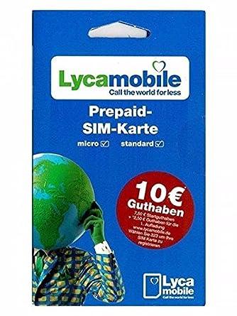 Sim Karte Bestellen.Lyca Mobile Prepaid Sim Karte 7 50 Euro Startguthaben