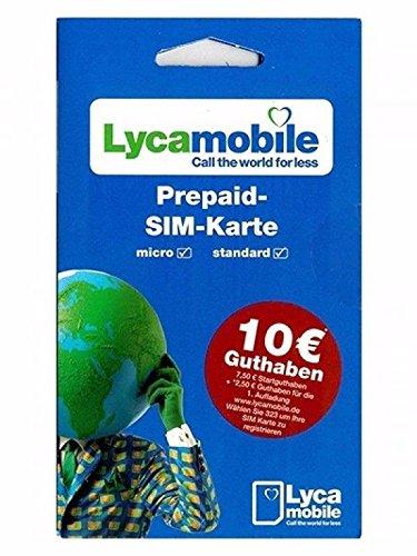 Lyca Mobile Prepaid tarjeta SIM + 7,50 Euro prepago - lycam obile ...