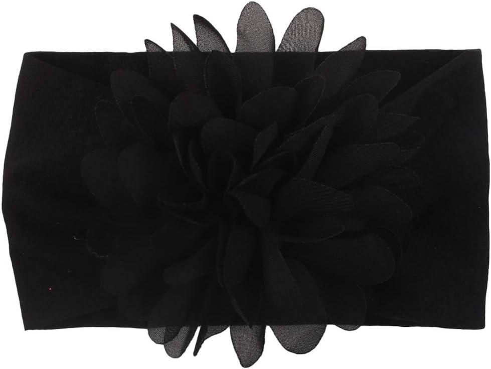 RIsxffp Bandeau /élastique pour b/éb/é fille Couleur unie Arche fleur Turban Princesse Hairband rose rouge