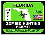 Florida Zombie Hunting Permit(Bumper Sticker)