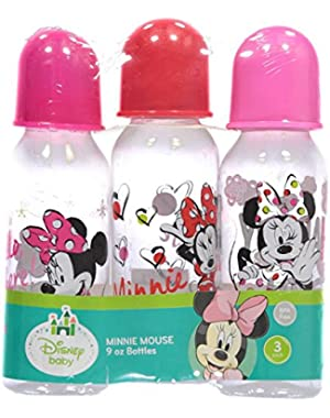 Minnie Mouse 9 oz - 3 Pack of Baby Bottles