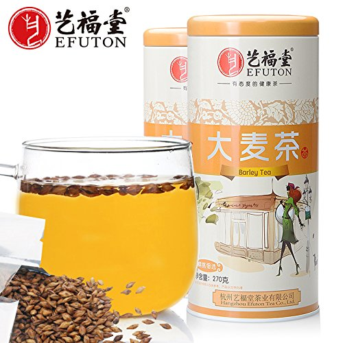 (China Tea Arts and crafts hall flower tea, bulk barley tea, original malt tea 270g/ cans2 package mail)