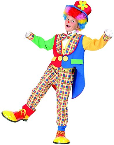 [YOU LOOK UGLY TODAY Colourful Clown Halloween Dress-up Costume, Quality Fabric, Washable &] (Boy Clown Costumes)