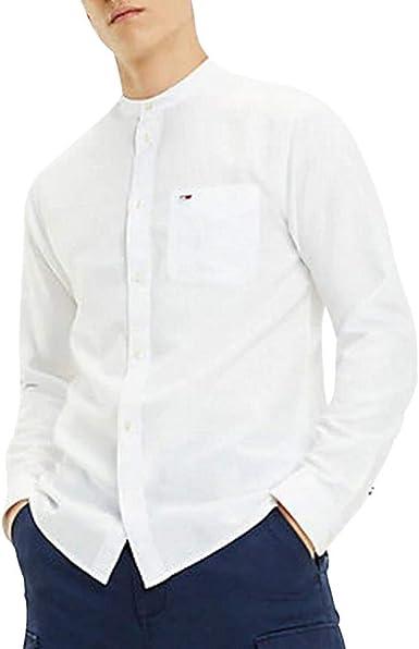 Tommy Hilfiger TJM Mao Linen Shirt Camisa para Hombre: Amazon.es: Ropa y accesorios