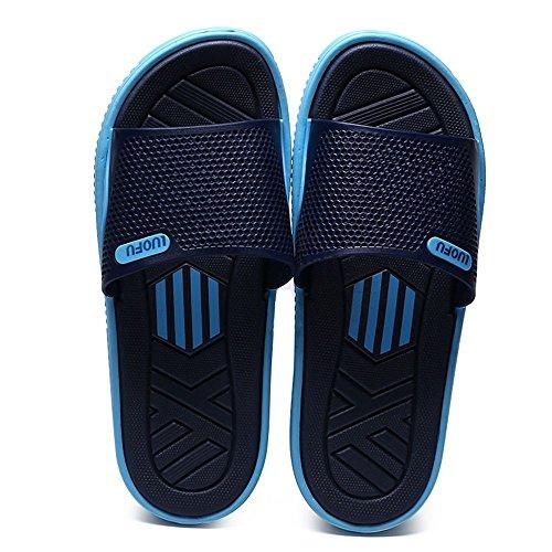 SITAILE Women Men Soft Slide Sandals Breathable Lightweight Indoor Outdoor Sandal Slippers Darkblue
