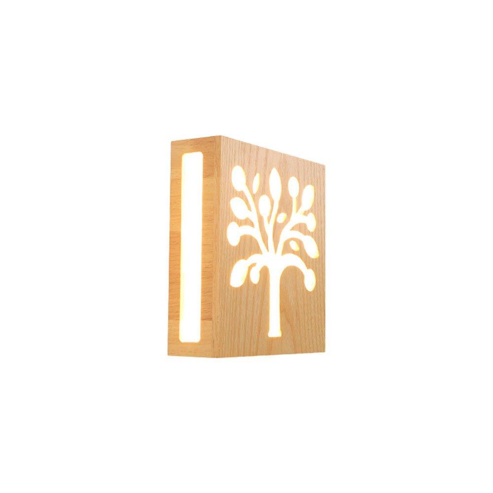 Wandleuchte Wohnzimmer Innenbeleuchtung dekorative Holzwand geführt,