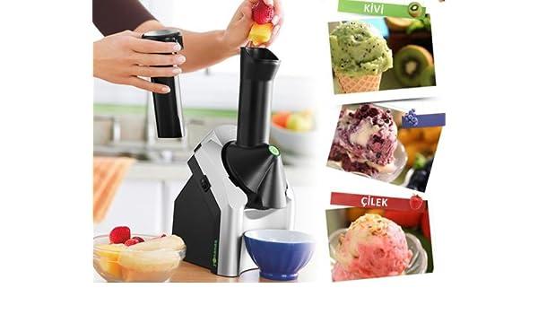 Máquina de hielo, hielo en señales de entrada para Máquina para hacer yogurt-hielo, preparación, talla y postre. Con dos orificios de helados y asientos de cuchara.: Amazon.es: Electrónica