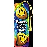 Smile, God Loves You! Tie-Dye 2 x 6 Cardstock Tassel Bookmark, Pack of 12