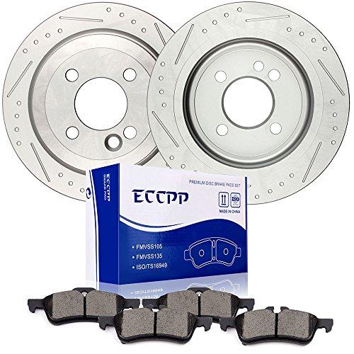 brake rotors pads kits 2pcs rear discs