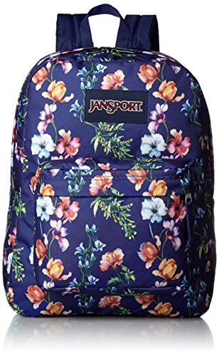 JanSport T501 Superbreak Backpack - Multi Navy Mountain Meadow