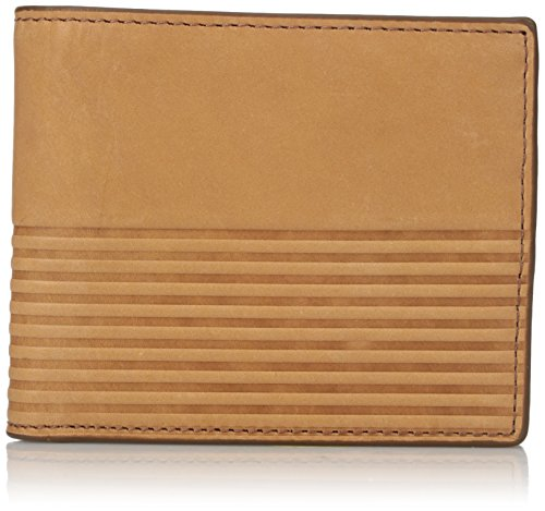 Fossil Mens Rfid Blocking Ford Large Coin Pocket Bifold  Saddle  One Size