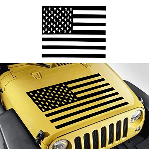 91 V6 Auto Car - Star-Trade-Inc - Universal Car Vinyl Decal Sticker US United State American Flag For Jeep CJ TJ Trailer V6 Auto Accessories