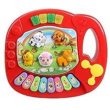 Piano Toy - SODIAL(R) Baby Kids Musical Educational Animal Farm Piano Developmental Music Toy