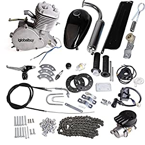 2. Iglobalbuy 80CC Petrol Gas Motor Bicycle Engine Complete Kit Motorized Bike 2-Stroke