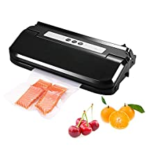 Vacuum Sealer, [Newest Version] Pictek 2-in-1 Fully Automatic Food Vacuum Saver, Easy One-Touch Vacuum Sealing System Machine with Roll Holder and Cutter, White