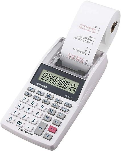 Sharp EL-1611 V - Mini calculadora de sobremesa (impresora ...