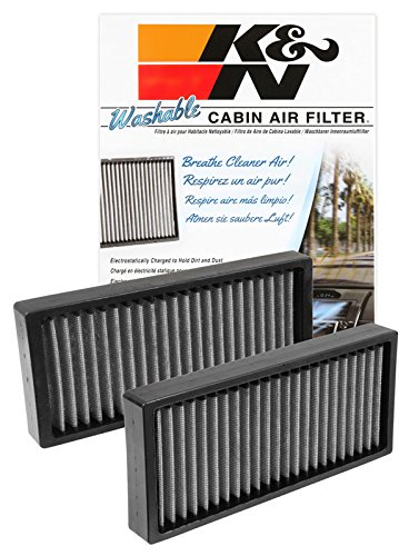 K&N VF1002 Washable & Reusable Cabin Air Filter Cleans and Freshens Incoming Air for your Nissan Armada, Pathfinder, Titan