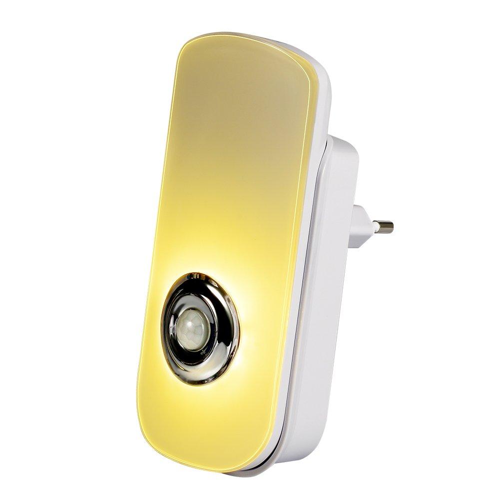Emotionlite 5 in 1 Mehrzweck LED Nachtlicht mit bewegungsmelder und Dämmerungssensor Taschenlampe Notlicht PIR Bewegungserkennung Wiederaufladbare Batterie Kabelloses Aufladen Schaltersteuerung ELN-016