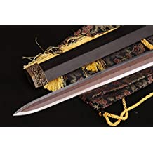 Lyuesword Chinese Sword Real Martial Arts Sword Folded Steel Sword Chinese Jian Razor Sharp Kung Fu Sword