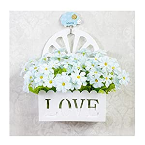 LuckySHD Hanging Artificial Flowers with Basket Beautiful Home Decoration 74