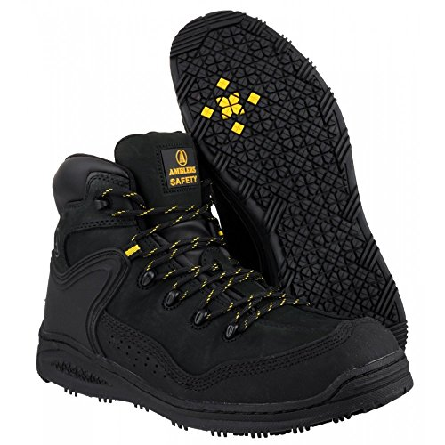Amblers Safety - FS - Mens - Black - Steel Toe Cap Work - EU / UK Schwarz