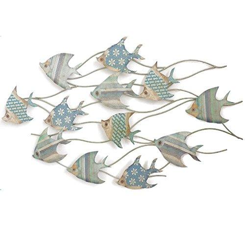 OSONA 魚 フィッシュ 壁掛け インテリア アイアン壁飾り ウォールデコ ディスプレイ B01H3HR9AG
