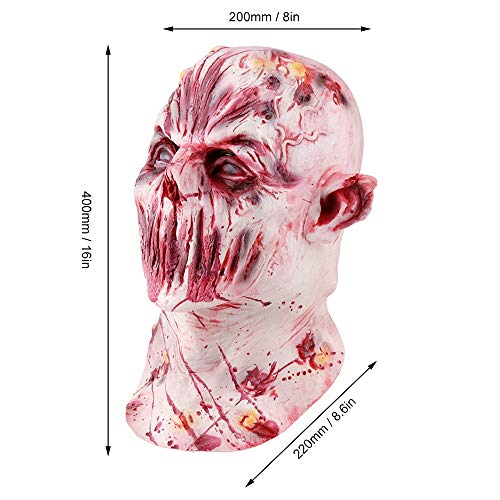 AILIUJUNBING Halloween Mask Scary Zombie Ghoul Full Face Mask Halloween Party Decoration Latex Mask Mens Women Cosplay Costume Supplies