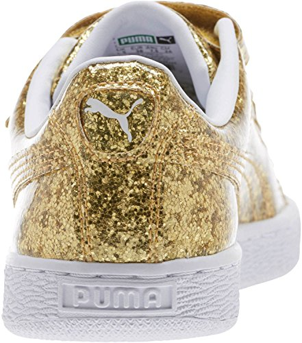 Basket 7 B Gold Women's Strap US Gold Glitter PUMA ORxa7PwqR