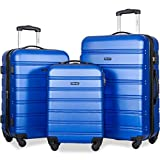 Merax Luggage Set Hard Shell Expandable Spinner Suitcase Set 3pc