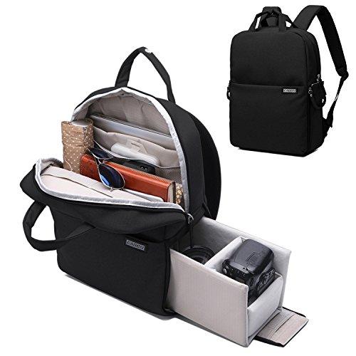 Travelers Camera Bag (Camera Backpack DSLR/SLR Camera Bag Multifunction Travel Outdoor Waterproof Tablet Laptop Bag for Sony Canon Nikon)