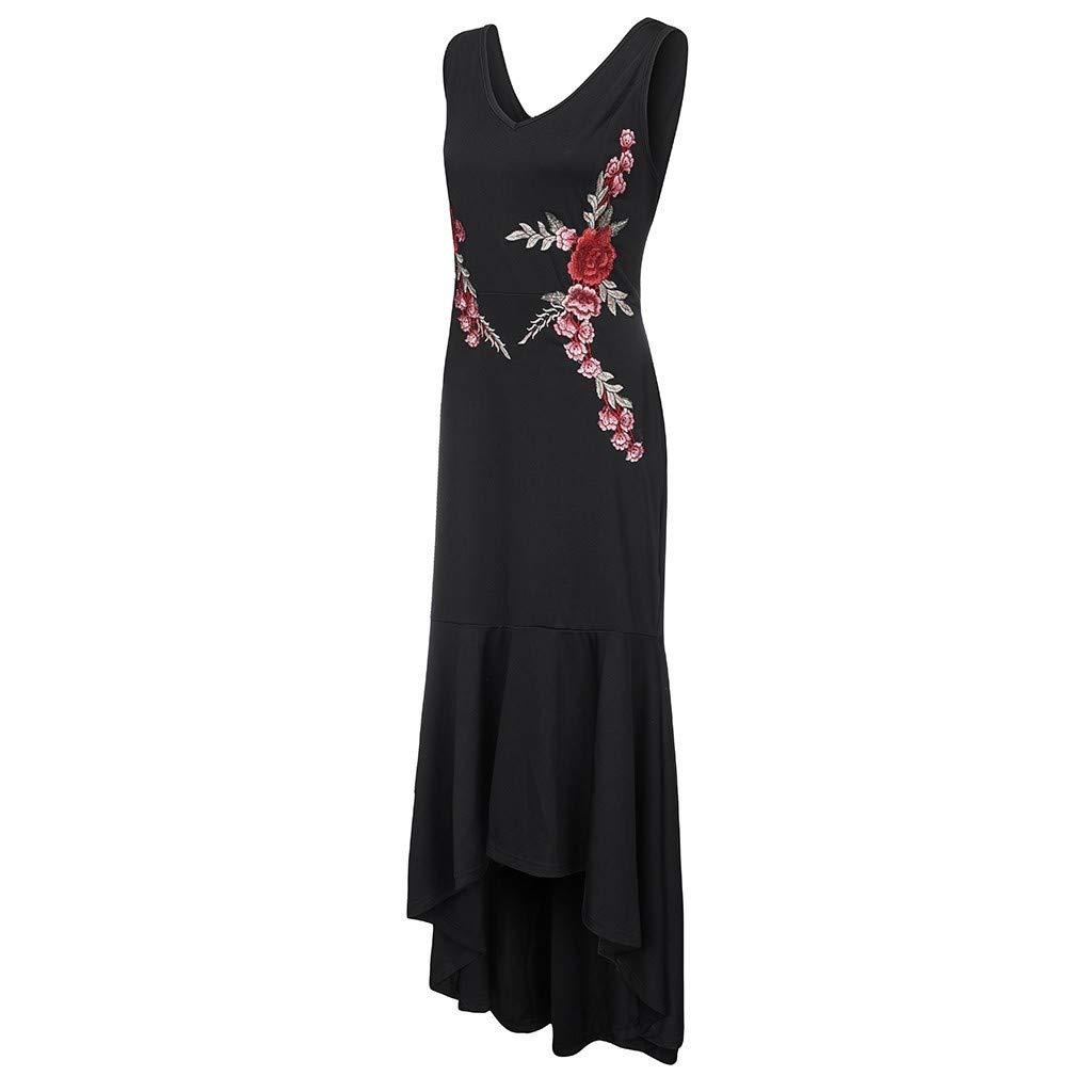 Lulupi Abendkleid Lang Schwarz Damen Lang Unregelmassiges Kleid Armelloses V Ausschnitt Abschlussballkleid Ubergrosse Kostume Blazer Hosenanzuge
