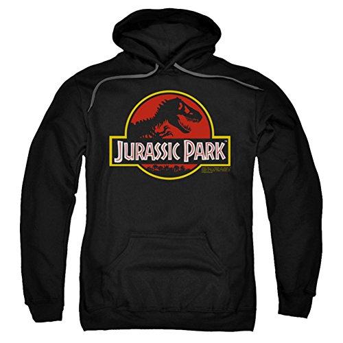 Jurassic Park Dinosaur Thriller Movie Classic Logo Adult Pull-Over Hoodie