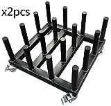 2pcs New Heavy Duty Digital Media/Vinyl Cart Mobile Rack,16-Roll capacity, 2'' core