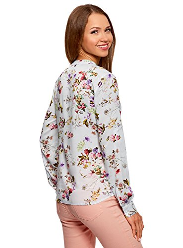 Blouse en Collection Imprime Viscose Femme Blanc 1219f oodji qvaECwxtU