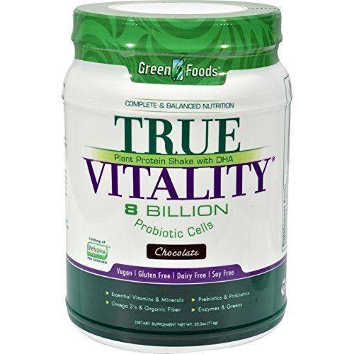 True Vitality Chocolate Protein Shake By Green Foods - 25.2 Ounces ( Multi-Pack)