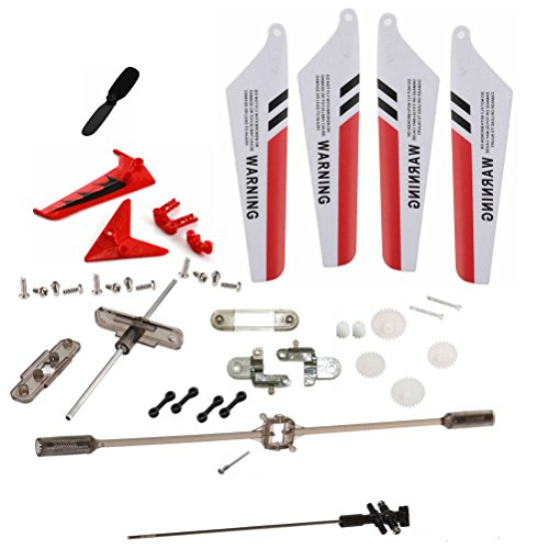 XiaoPengYo Full Spare Parts Main Blade Propeller + Connect buckle + Balance Bar + Main Shaft + Gear for Syma S107G S107 RC Helicopter