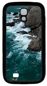 Cool Painting Samsung Galaxy I9500 Case, Samsung Galaxy I9500 Cases -Rocky Shore PC Rubber Soft Case Back Cover for Samsung Galaxy S4/I9500