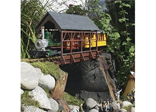 (PIKO G SCALE MODEL TRAIN BUILDINGS - COVERED BRIDGE - 62116)