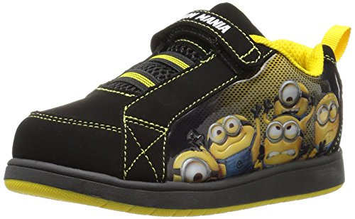 Despicable Me Boys' Minions Athletic Sneaker, Black, 8 Child US Toddler (Despicable Me Shoes)