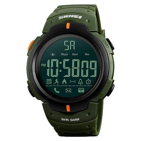 Anna-neek Ocio Deportes Reloj electrónico Bluetooth Cuenta de Pasos Fotografía Mensaje APLICACIÓN Recordatorio Inteligente