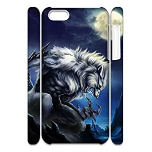 Diy Cool Werewolf Custom for iphone 5c 3D Shell Phone Cover Case LIULAOSHI(TM) [Pattern-4] by runtopwell