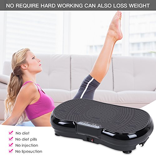 Vibration Plate Machine, Whole Body Vibration Platform Fitness Workout Muscle Trainer with Pulling Rope Body Shaper Exercise Equipment for Home by Estink (Image #5)
