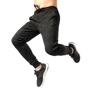 d502aeb77e90d 🎄🎄Hombre Pantalón Pantalones Deportivos Hombre Casual Jogger Dance Sportwear  Pantalones Baggy Slim Design Sweatpant de los Pantalones Xinantime  ...