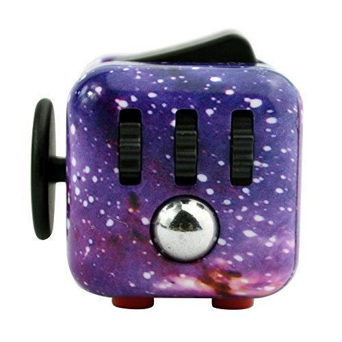 Fidget Cube Toy Camo Anxiety Attention Stress Relief for Children and Adults (Night Stars)