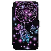 iPhone XR Case, Midnight Dream Catcher Phone Case by Casechimp® | Premium Leather Flip Wallet Card Holder Slots | Lotus Dream Catcher Dormeo Teepee Love
