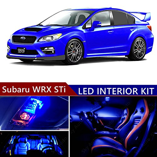 Sky Auto INC Subaru WRX STi 2004-2017 LED Premium Blue Light Interior Package Kit (8 pcs)