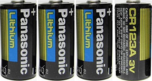 Amazoncom Panasonic Cr123a Lithium 3v Photo Lithium Batteries 4