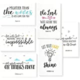 48 Pack Inspirational Bible Verse Quote Greeting Cards - Religious Inspiring Motivational Cards - Bulk Box Set - Includes 48 Cards with Envelopes - 4 x 6 Inches